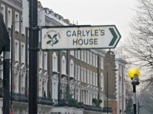 Sign to Carlyle house