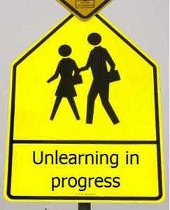Unlearning-in-progress