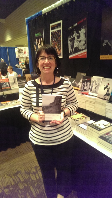Sarah Jane Cervenak with her book Wandering.