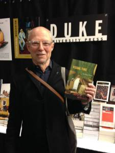 """Keith Moxey with his book """"Visual Time."""""""