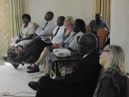 most of the research team: (from left) Pheobi Kanjubi, Danvid Kyaddondo, Godrey Siu, Lotte Menert, Jenifer Twebaze, Susan Whyte