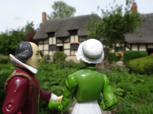Will showing Jane the cottage that belonged to the Hathaway family.