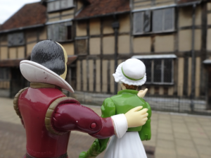 Will and Jane touring William Shakespeare's own birthplace in Stratford-upon-Avon.