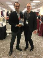 Nikhil Anand, author of Hydraulic City, with editorial director Ken Wissoker