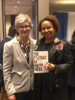 Editor Courtney Berger and Bianca Williams, author of The Pursuit of Happiness