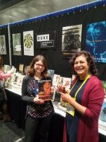 Tulasi Srinivas (right), author of The Cow in the Elevator, with publicist Jessica Castro-Rappl