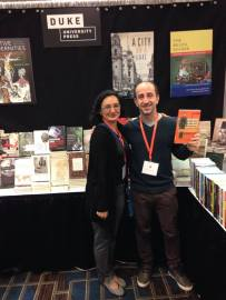 Editor Gisela Fosado and Ernesto Seman, author of Ambassadors of the Working Class