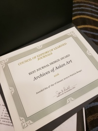 Archives of Asian Art's award from the CELJ