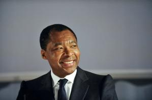 The Nigerian Okwui Enwezor, the designated director of the Haus der Kunst in Munich. The picture shows him at his presentation, eight months before the start of service (01.10.2011).