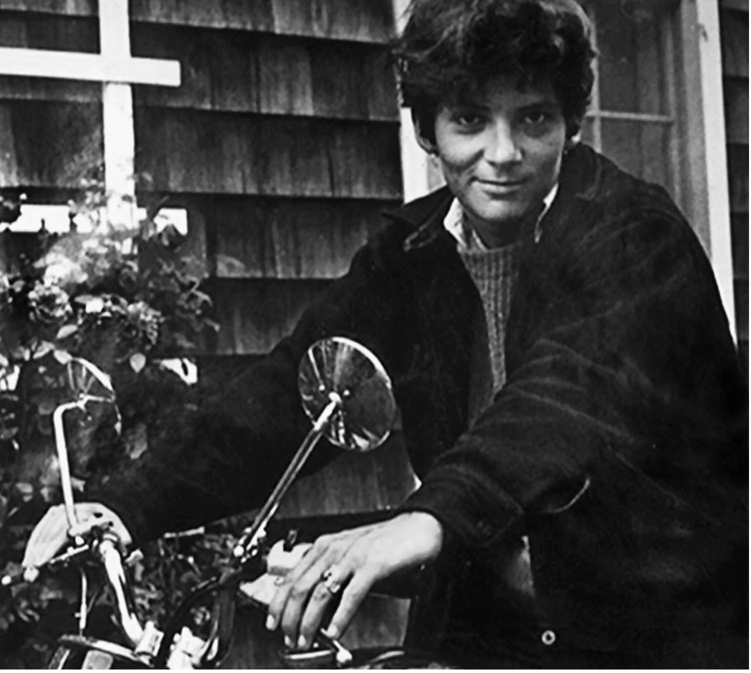 Esther Newton on motorcycle